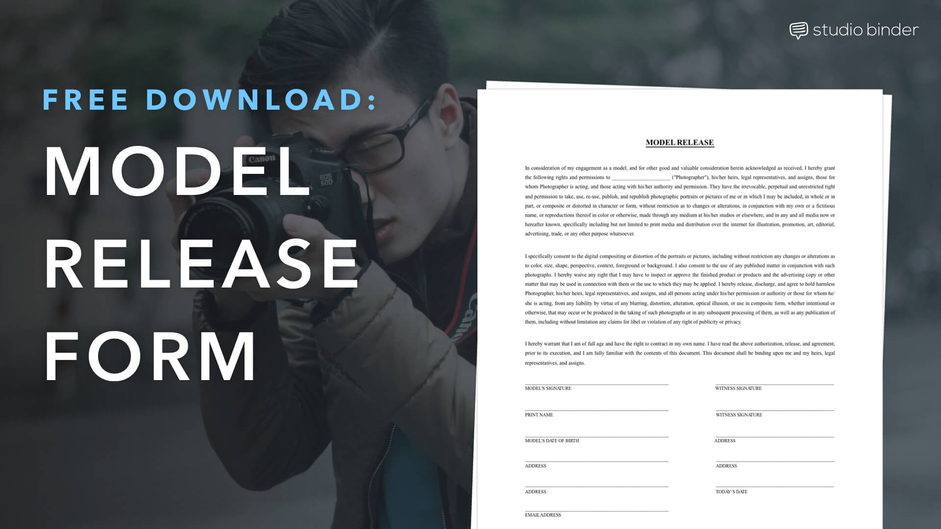 Download Foto Model Download A Free Model Release Form Template Studiobinder