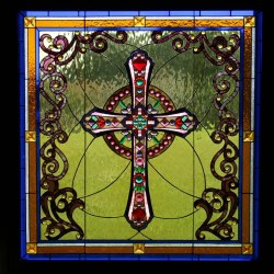 Small Of Stained Glass Cross
