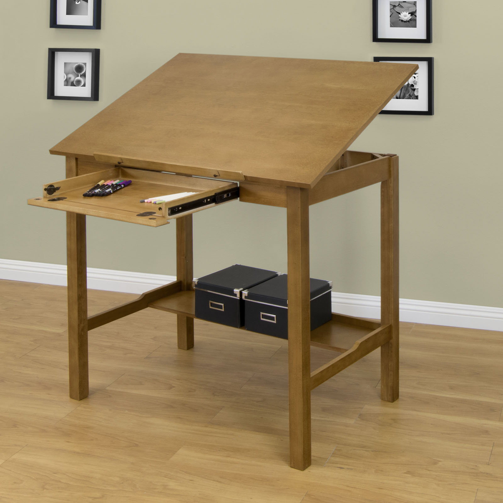 Drafting Table Design Americana Ii Wood Drafting Desk With 42 X 30 Adjustable