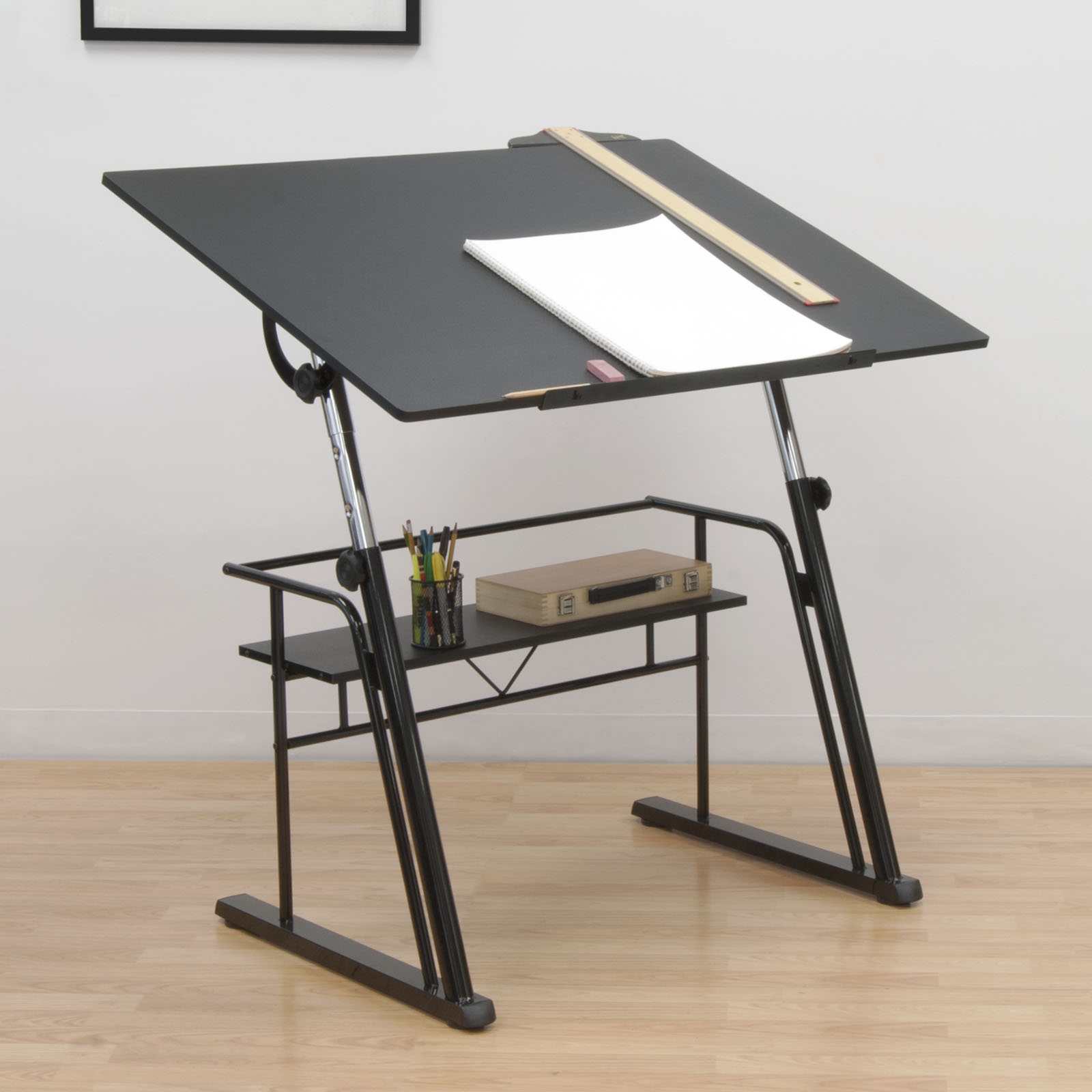 Drafting Table Design Zenith Height Adjustable Drafting Table With Shelf In
