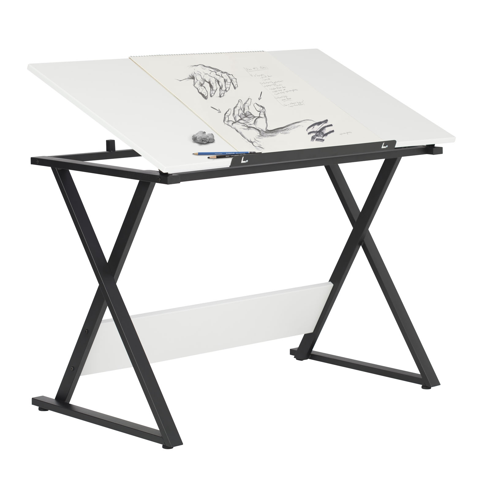 Drafting Table Design Axiom Student Drawing Table With Tilting Top Charcoal
