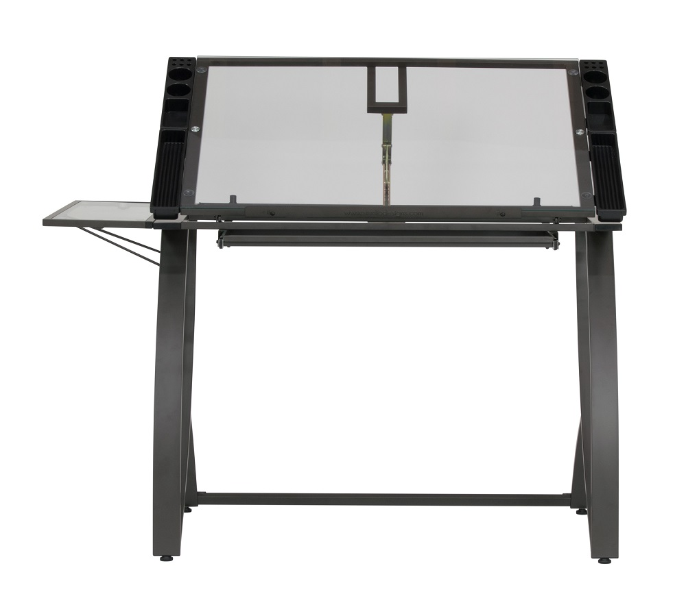 Table Luxe Futura Luxe Drawing Craft Table With Drawer And Folding Side