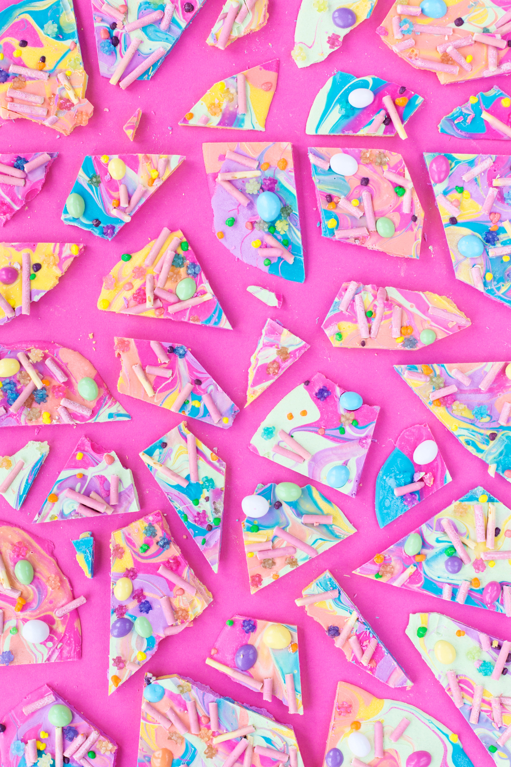 Cute Holographic Wallpapers Summer Fun White Chocolate Pocky Bark Studio Diy