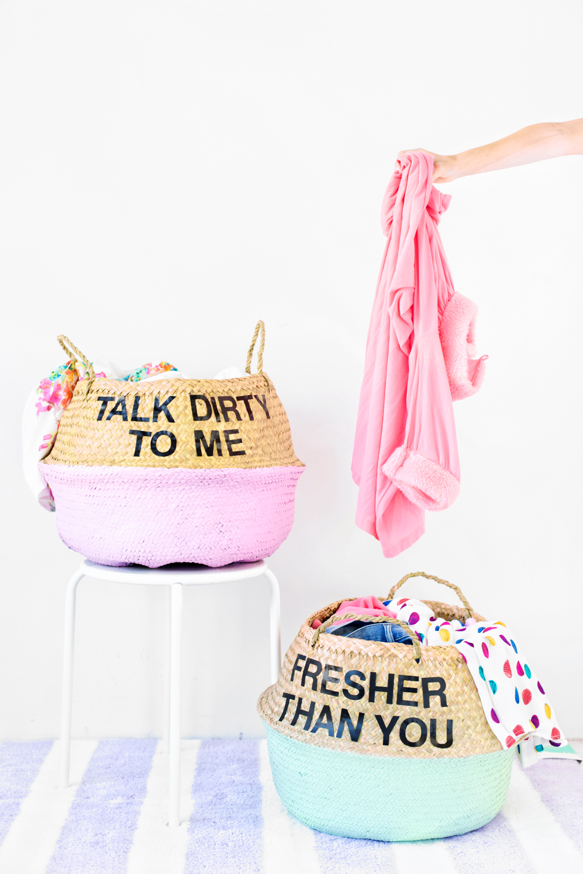 Dirty Laundry Baskets Diy Graphic Laundry Baskets Studio Diy
