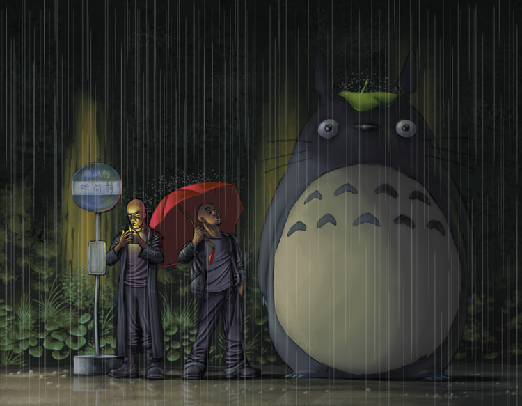 Moving Gravity Falls Wallpapers Awesome Collection Of My Neighbor Totoro Fan Art And
