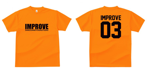 STUDIO-IMPROVE-T-SHIRTS-オレンジ