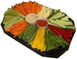 Raw vegetable platter for wife