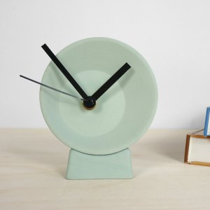 C09-1 FRONT Off center clock - studio lorier small clock ceramic clock hands