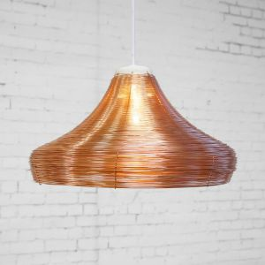 L02-2 copper braided lamp wide side view