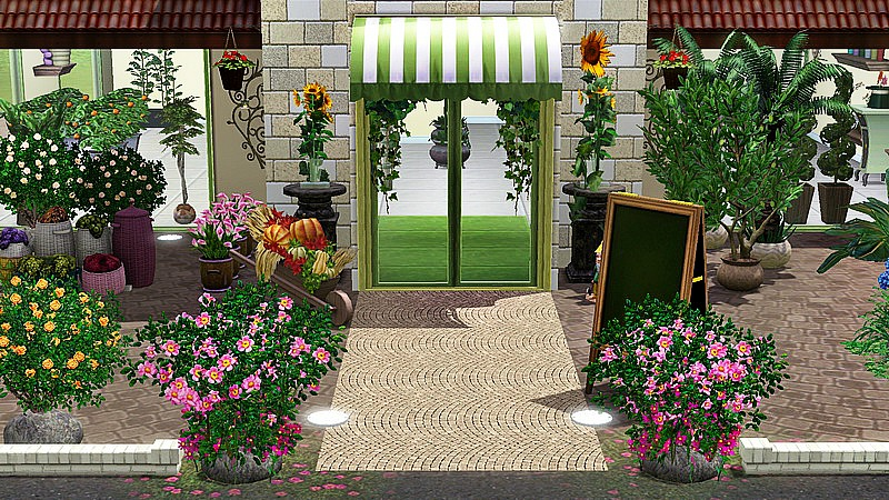 "Meuble Steampunk ""fleur Sauvage"" - Fleuriste - Studiosims Creation"