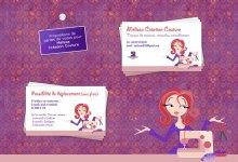 Cartes de visites pour Mélissa Création Couture
