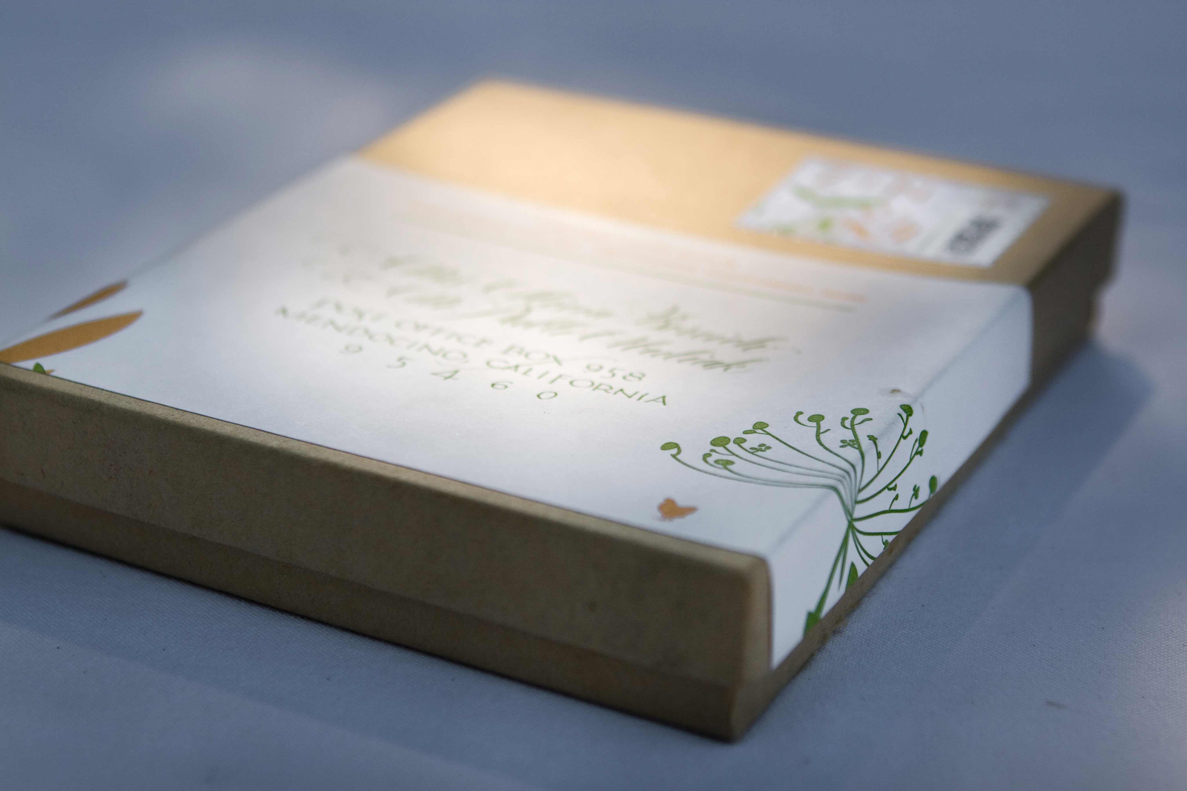 Organic Recycled Letterpress Wedding Invitations In A