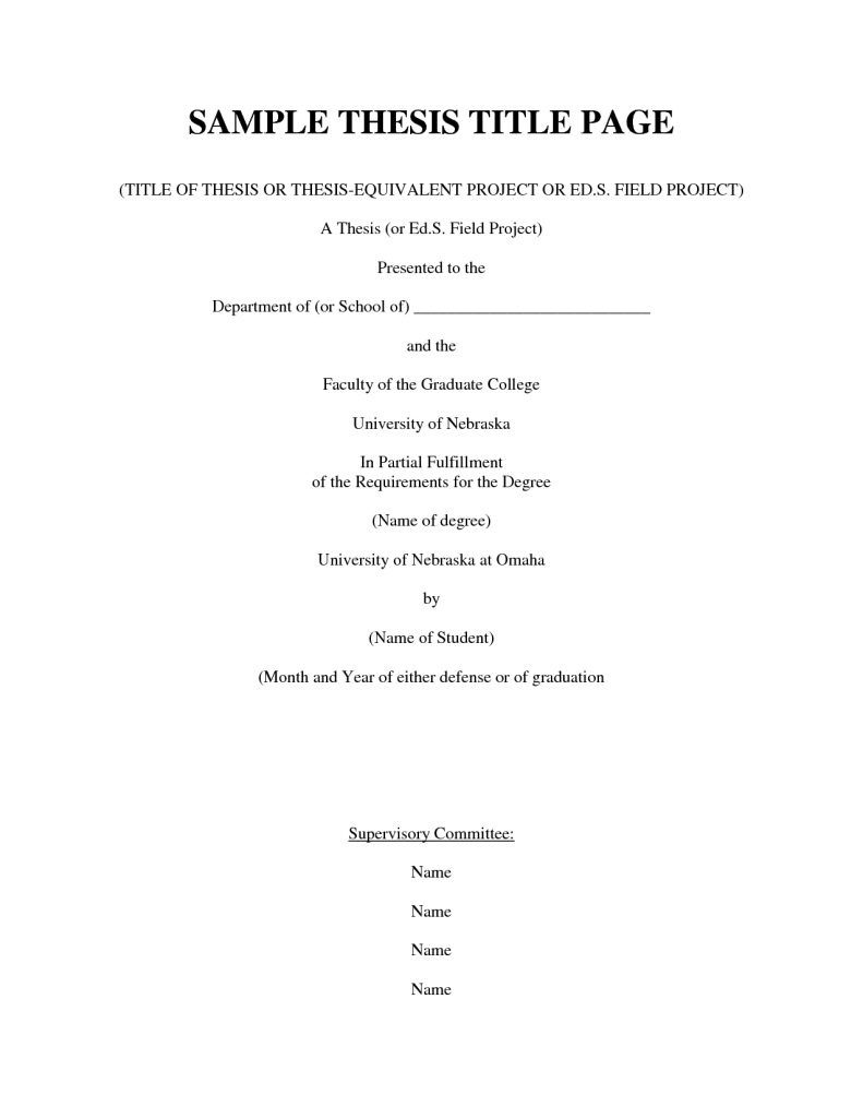 Thesis title for customs administration