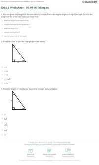 Special Right Triangles 30 60 90 Worksheet Worksheets For ...