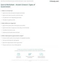 Forms Of Government Worksheet - Kidz Activities