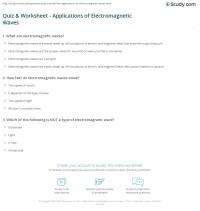 Electromagnetic Wave Worksheet - Kidz Activities