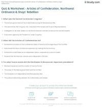 Quiz & Worksheet - Articles of Confederation, Northwest ...
