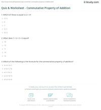 Commutative Property Of Addition Worksheet - commutative ...