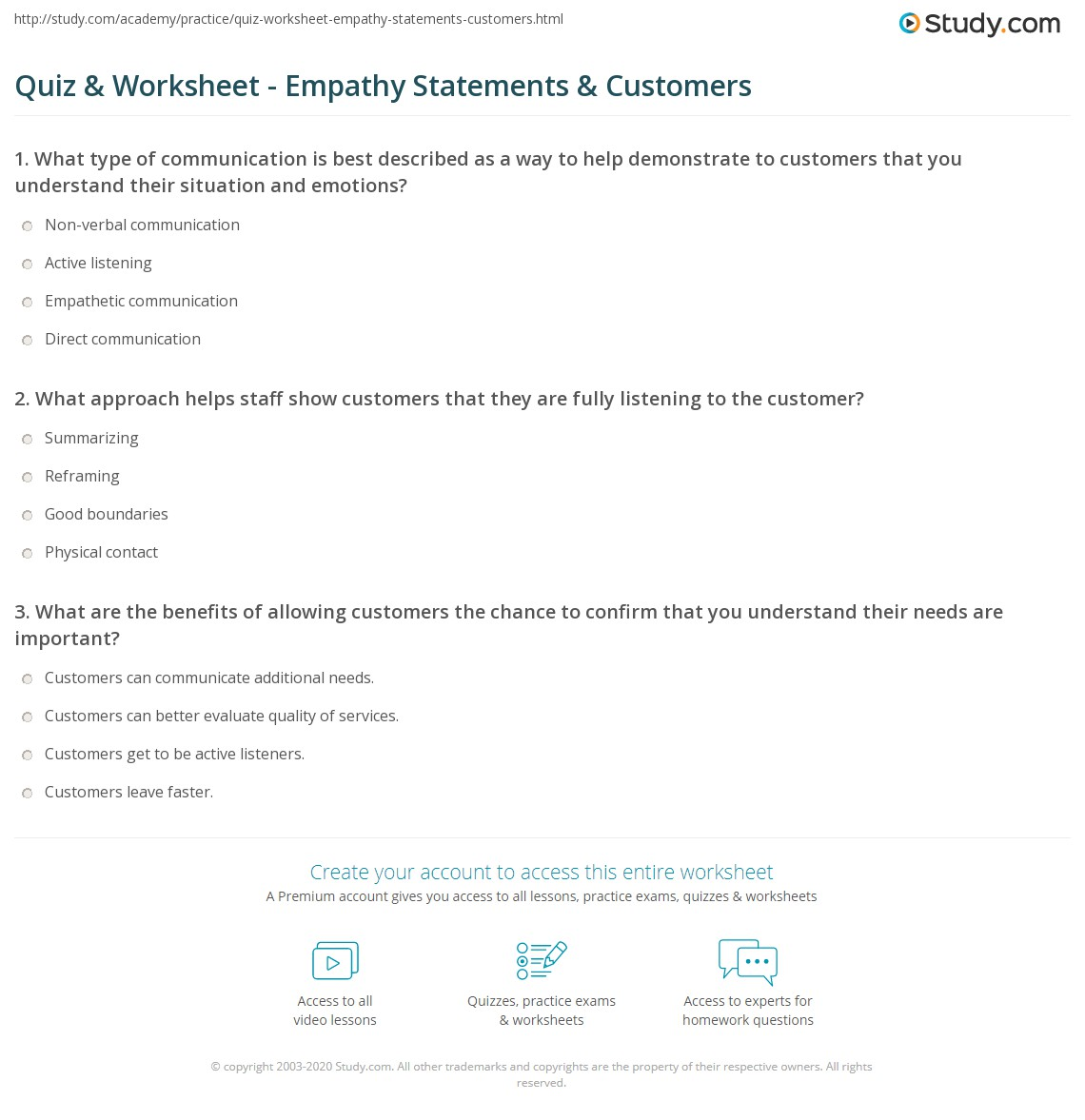 empathy statements in customer service examples