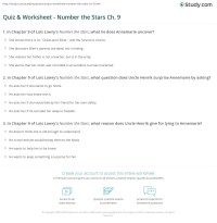 Quiz & Worksheet - Number the Stars Ch. 9 | Study.com