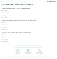 Worksheets. Perfect Square Trinomial Worksheet ...
