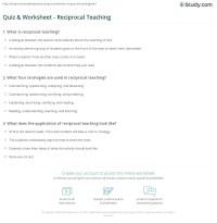 Quiz & Worksheet - Reciprocal Teaching | Study.com