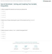 Quiz & Worksheet - Solving and Graphing Two-Variable ...