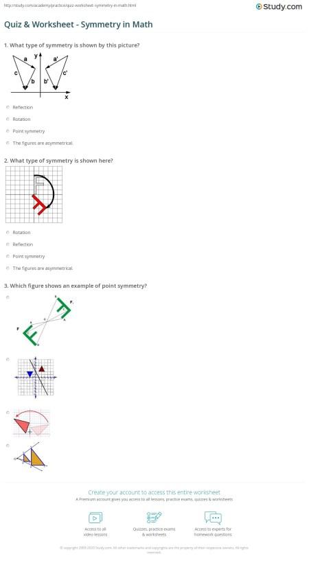 Shape Reflective Symmetry Worksheets