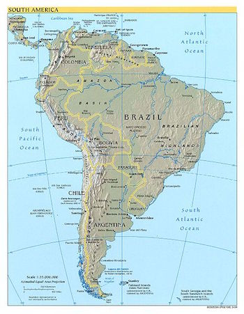 Physical Geography of South America Study