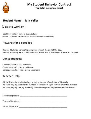 Student Behavior Contracts Examples and Templates Study - Student Contract Templates