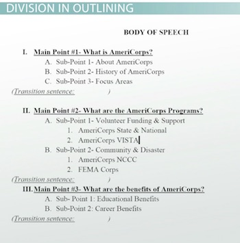 Developing the Body of a Speech Outline  Principles - Video