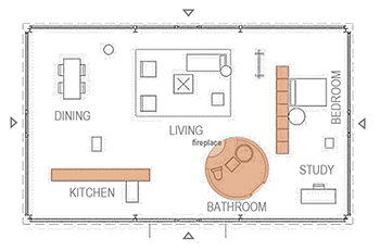 Philip Johnson39s Glass House Interior Floor Plan