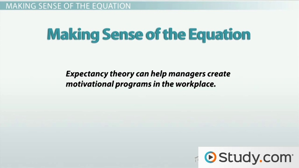 Vroom\u0027s Expectancy Theory of Employee Motivation - Video  Lesson