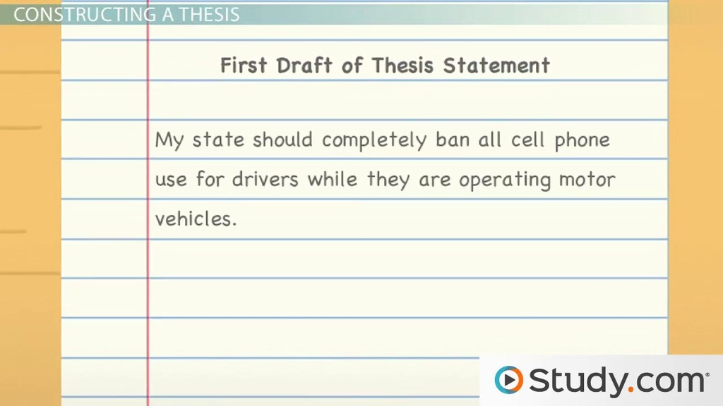 Thesis Development Steps and Instructions - Video  Lesson