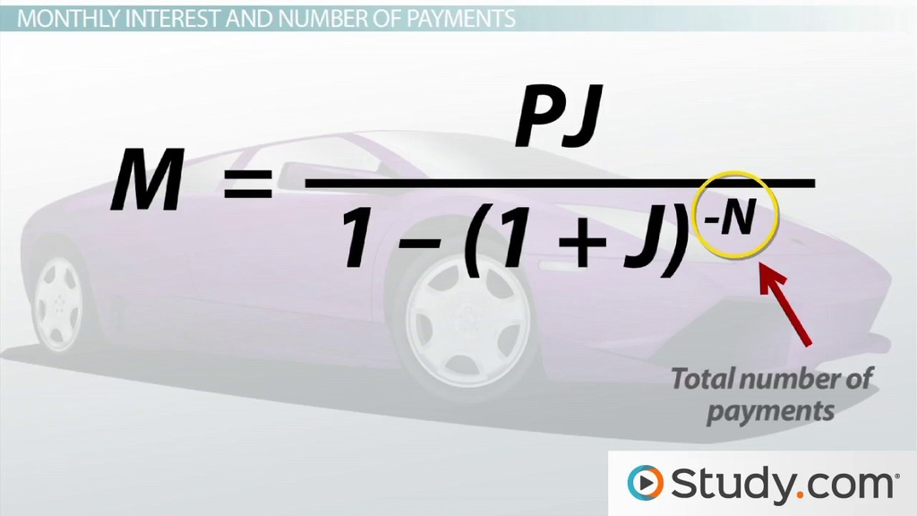Calculating Monthly Loan Payments - Video  Lesson Transcript - college loan interest calculator