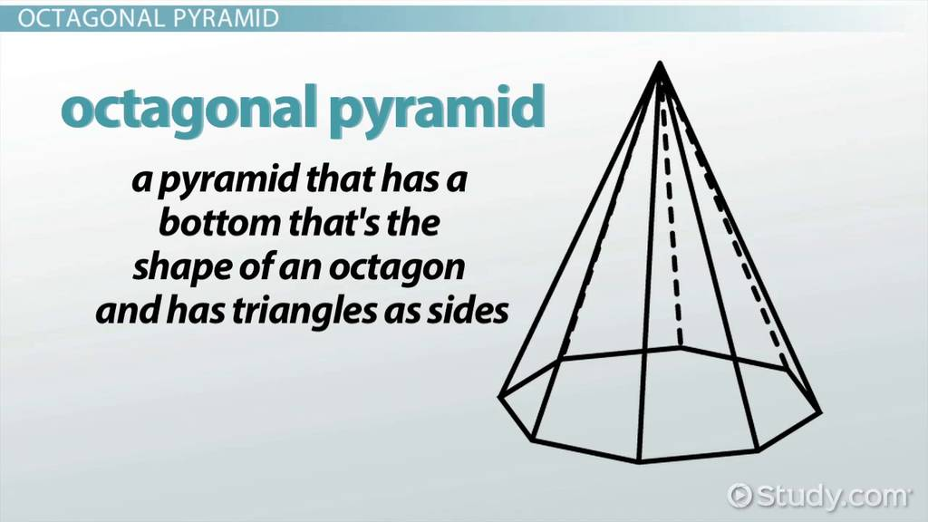 Volume, Faces  Vertices of an Octagonal Pyramid - Video  Lesson