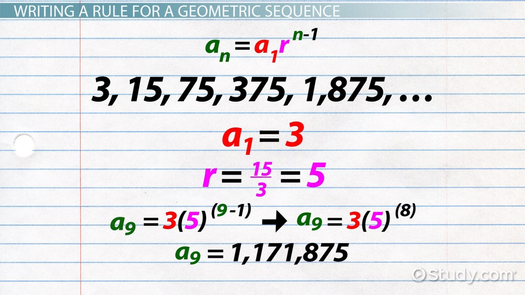 Geometric Sequence Formula  Examples - Video  Lesson Transcript
