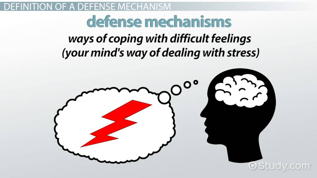 Defense Mechanisms Definition, Types  Examples - Video  Lesson - defense mechanisms
