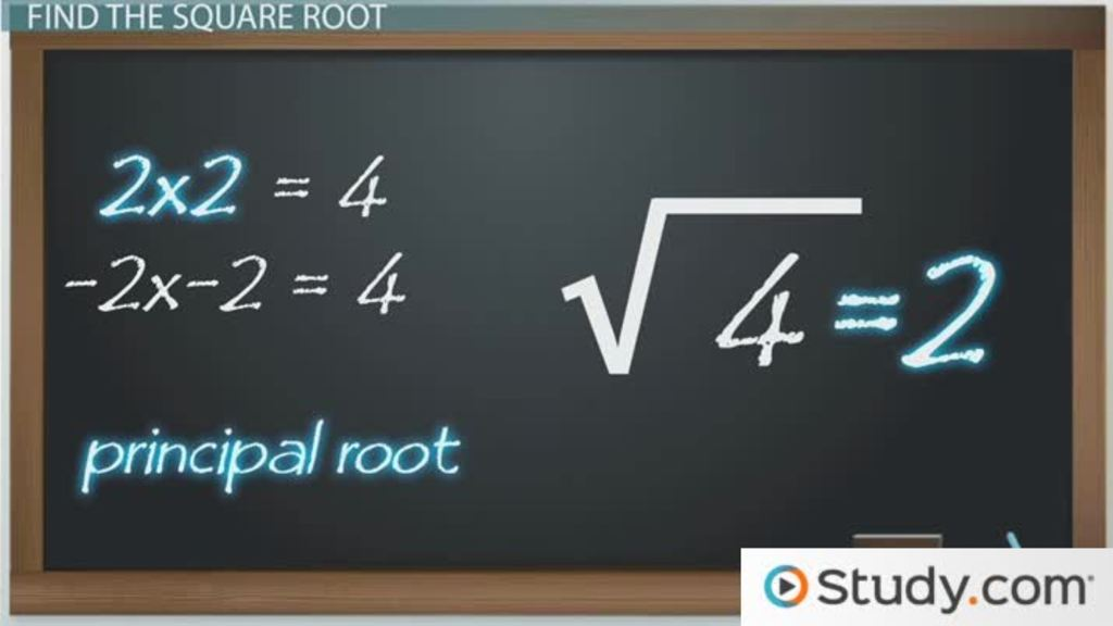 How to Find the Square Root of a Number - Video  Lesson Transcript