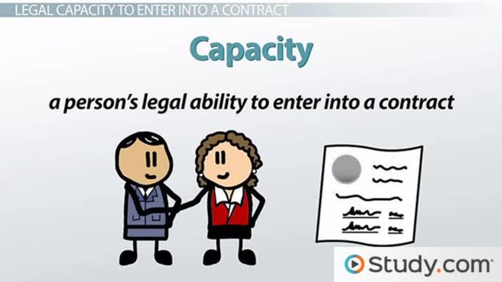 Legal Capacity to Enter a Contract Definition  Examples - Video - contract important elements