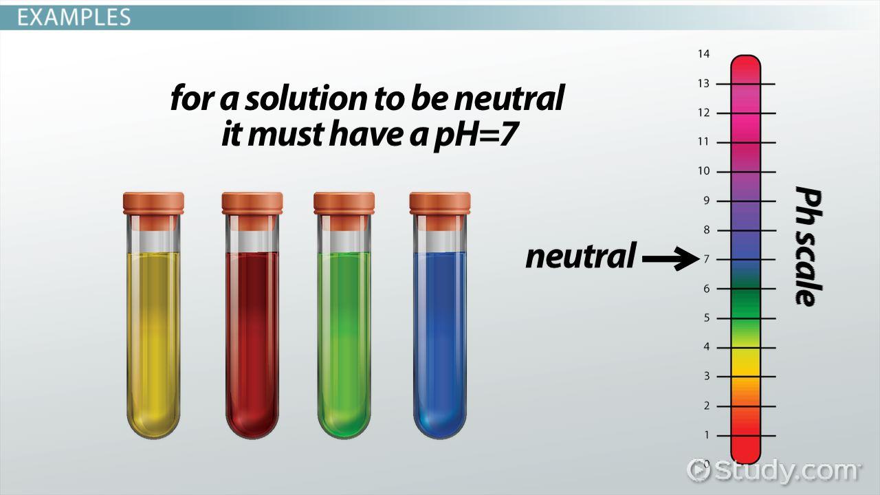 Neutral solution definition examples video lesson transcript study com