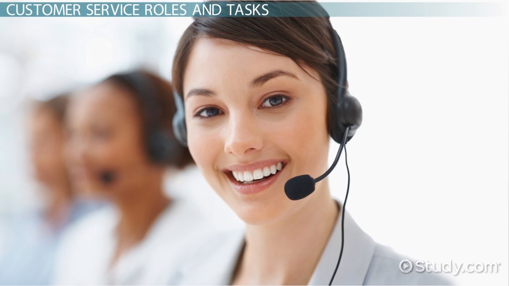 Customer Service Department Role  Tasks - Video  Lesson