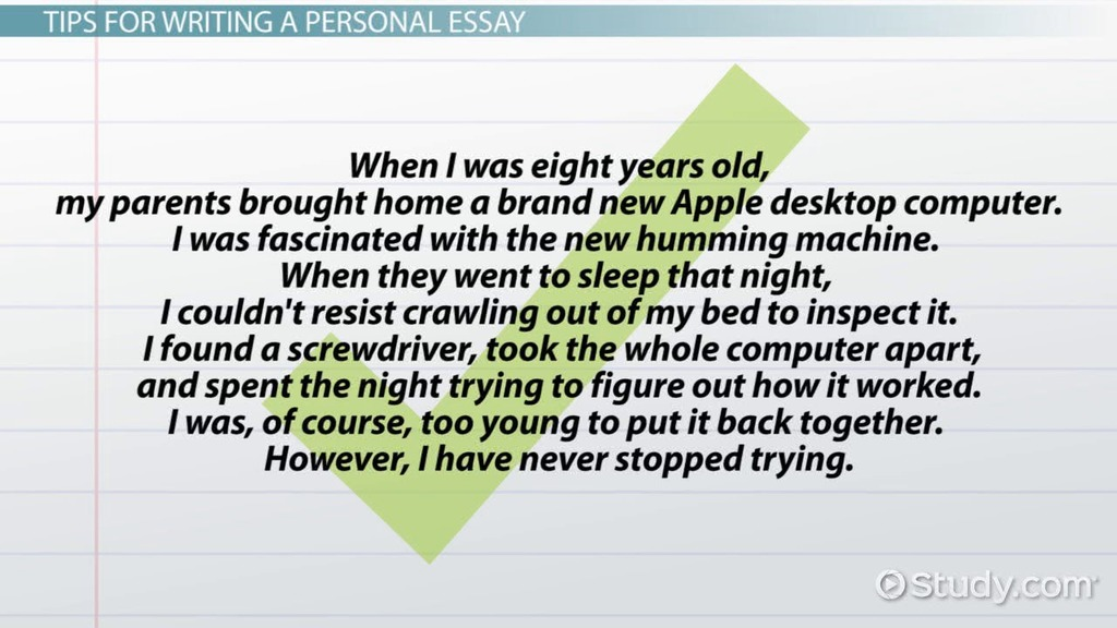 Personal Essay Definition, Format  Examples - Video  Lesson
