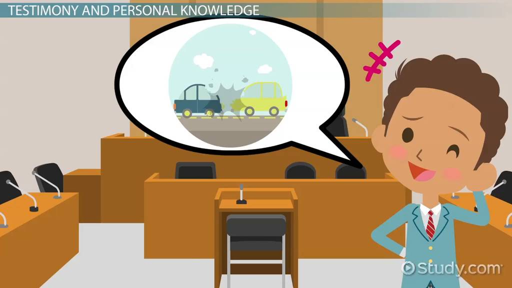 Testimonial Evidence Law Definition Examples Video