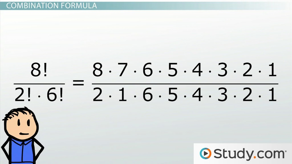 Math Combinations Formula and Example Problems - Video  Lesson