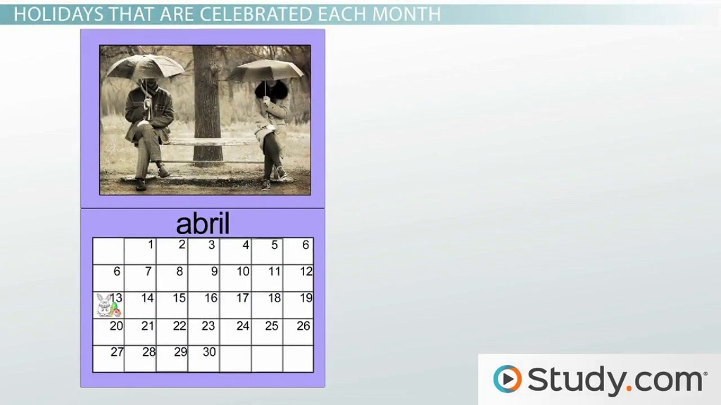 What Are the Months in Spanish? - Video  Lesson Transcript Study