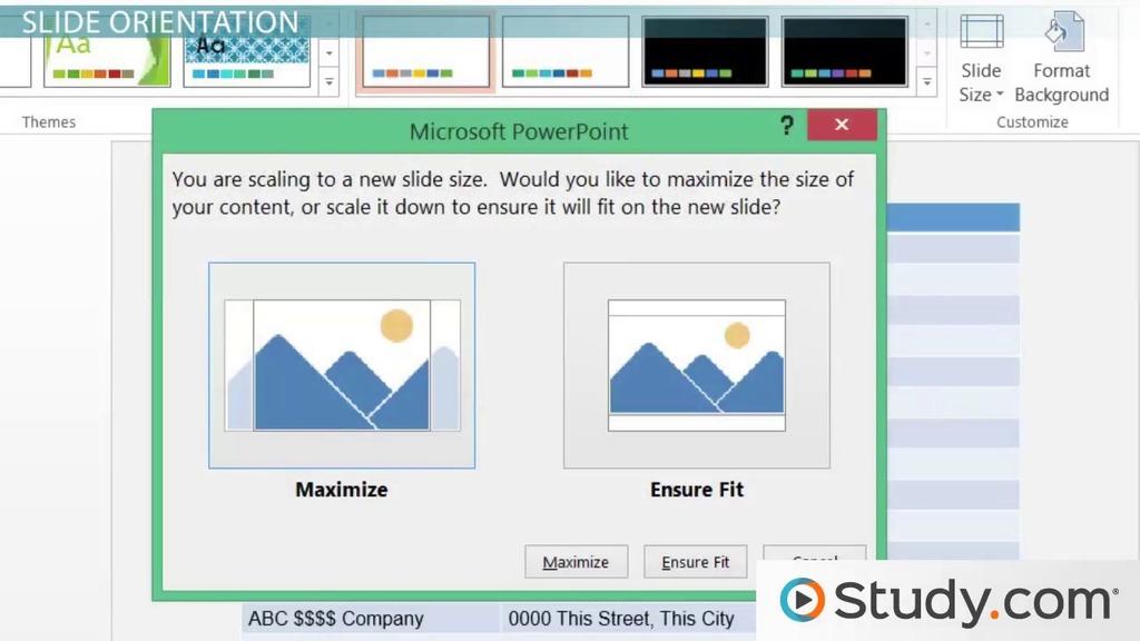 Understanding Slide Orientation in PowerPoint - Video  Lesson