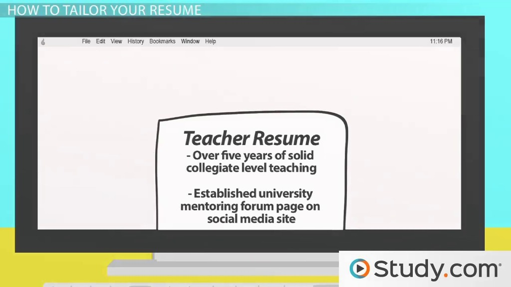 Parts of Your Resume Sections  Relevant Information - Video