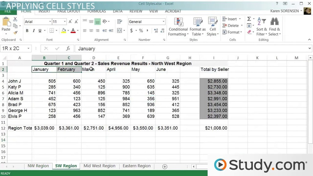 Cell Styles in Excel Applying  Modifying Styles - Video  Lesson