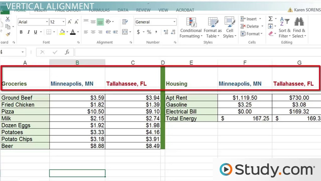 How to Modify Cell Alignment  Indentation in Excel - Video  Lesson - how to make a sign in sheet using excel
